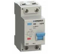 Автоматический выключатель дифф.тока АД12 2р C20 30 мА электрон. тип AС
