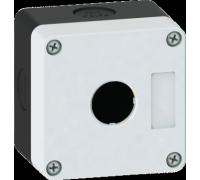 Корпус кнопочного поста пластиковый серый на 1 место ПК-1