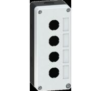 Корпус кнопочного поста пластиковый серый на 4 места ПК-4